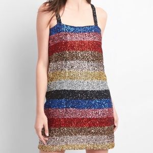 Gap Sequin Crazy Stripe Dress
